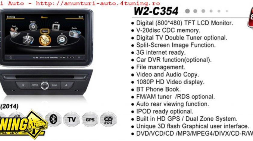 NAVIGATIE WITSON W2 C354 DEDICATA MAZDA 3 2014 PLATFORMA S100 PROCESOR DUAL CORE A8 1GHZ 512 DDR 2 DVD GPS TV DVR CARKIT PRELUARE AGENDA TELEFONICA