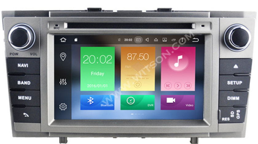 NAVIGATIE WITSON W2 D9124T DEDICATA TOYOTA AVENSIS 2009 2013 DVD GPS TV CARKIT CU PRELUARE AGENDA TELEFONICA COMENZI PE VOLAN