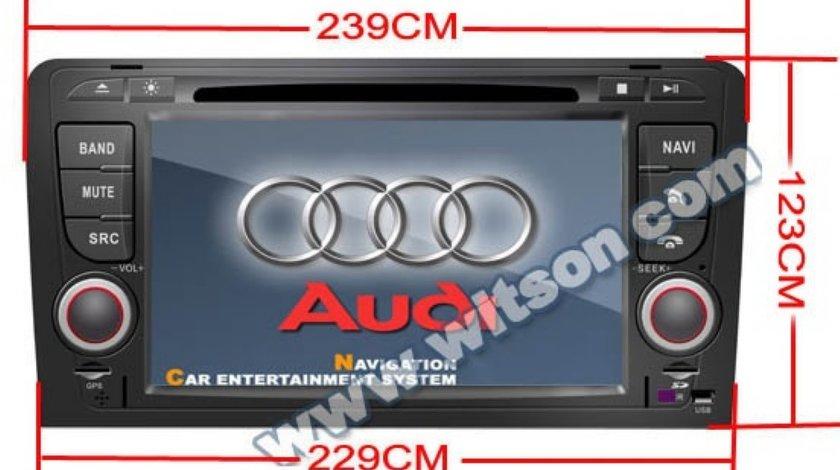 Navigatie WITSON W2-D9763A Dedicata Audi A3 2003 2010 INTERNET 3G WIFI DVD GPS CARKIT TV MODEL 2013