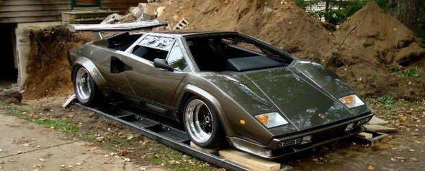 Nebun dupa Lamborghini: si-a facut propriul Countach in subsolul casei