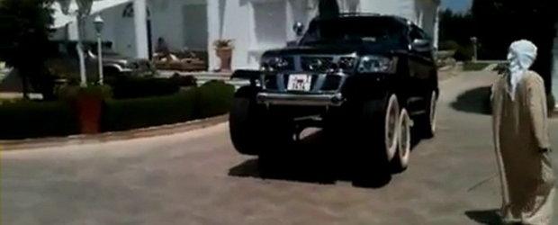 Nebunia unui seic: Nissan Patrol cu sase roti!