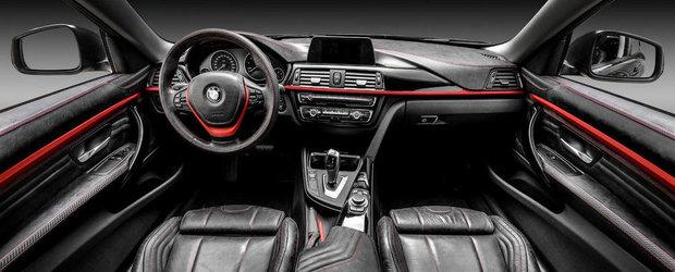 Negrul revine la moda: BMW Seria 4 Coupe cu interior din piele naturala