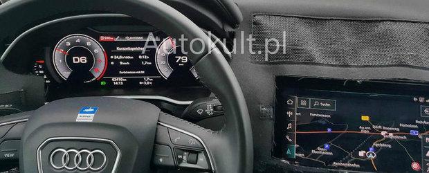 Nemtii au inlocuit butoanele din bord cu un ecran tactil urias. Uite cum arata la interior noua masina 4x4 de la Audi