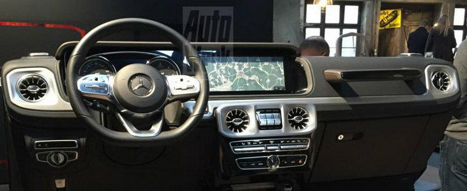 Nemtii au innebunit cand au vazut imaginile astea. Bordul noului Mercedes G-Class a ajuns pe internet!