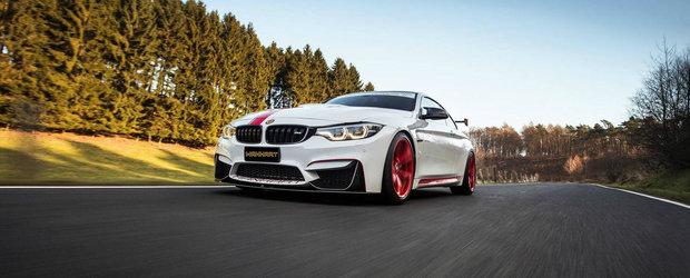 Nemtii au mai facut o incercare cu BMW-ul M4. Acum are 550 de cai si este imbatabil pe viraje