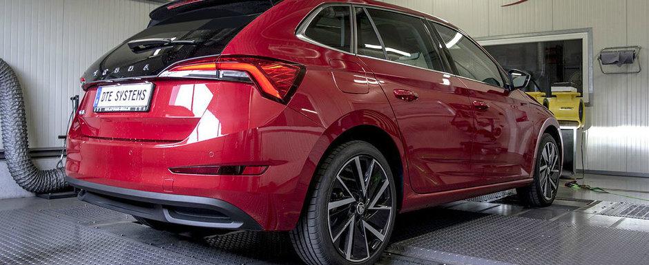 Nemtii au tunat noua Skoda Scala, masina care concureaza cu VW Golf