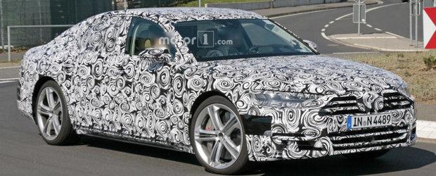 Nemtii de la Audi ne arata ca nu stau degeaba. Viitorul S8 surprins in public pentru prima data