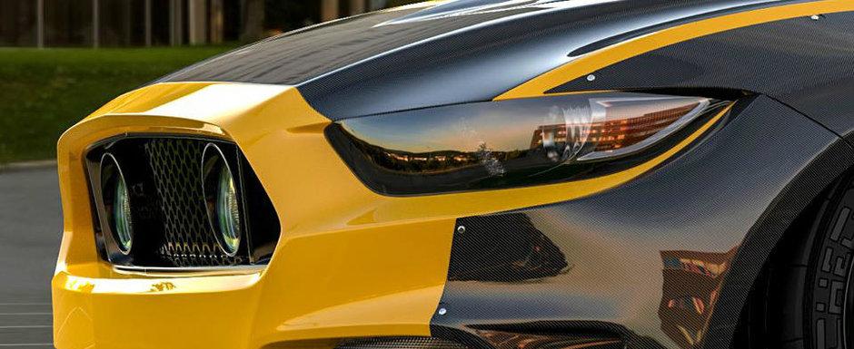 Nici nu incape indoiala. El trebuie sa fie cel mai lat Ford Mustang din lume GALERIE FOTO