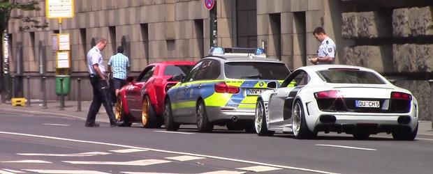 Nimic nu le scapa politistilor germani. Momentul in care acestia alearga dupa doua masini tunate.