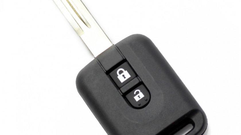 Nissan - carcasa cheie 2 butoane, (motel dreunghiular)