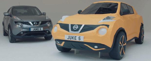 Nissan celebreaza cinci ani de Juke cu... un origami Juke