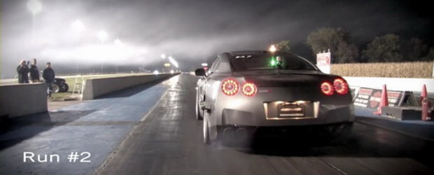 Nissan GT-R by AMS Performance in actiune - 9.33 secunde pe 402 metri!