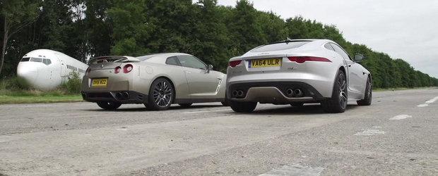 Nissan GT-R ii arata Jaguar-ului F-Type R cine-i seful curselor legale