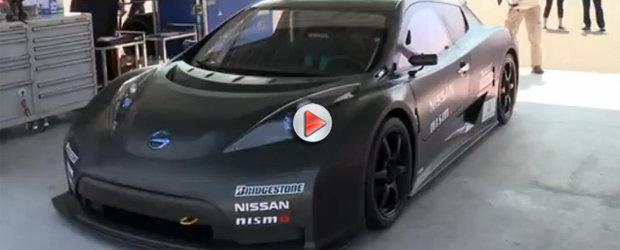 Nissan Leaf Nismo RC - masina electrica de curse surprinsa in teste