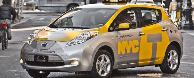 Nissan Leaf se transforma in taxi la New York