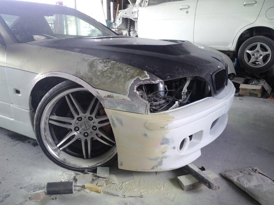 Nissan Silvia S15 transformat in BMW Seria 3