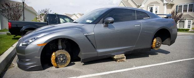 Nissanul are lipici la hoti - Inca un GTR a ramas fara jante
