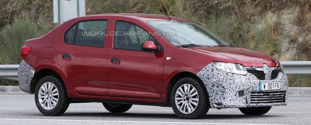 Noi imagini spion cu misteriosul prototip Dacia Logan 2