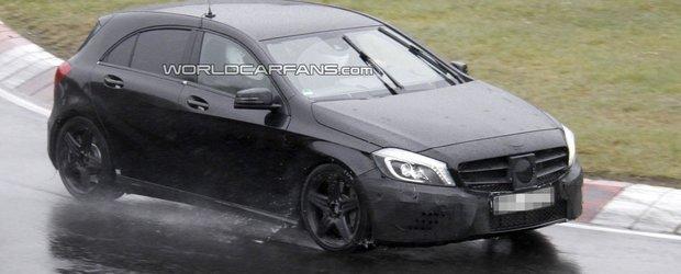 Noi imagini spion cu viitorul Mercedes A25 AMG