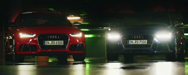 Noile Audi RS6 si RS7 Performance se promoveaza cu un spot plin de actiune si viteza