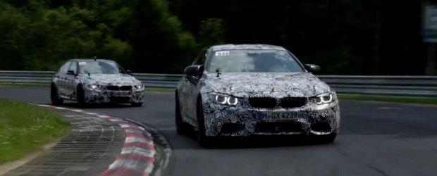 Noile BMW M3 si M4 revin la Nurburgring pentru setarea suspensiei
