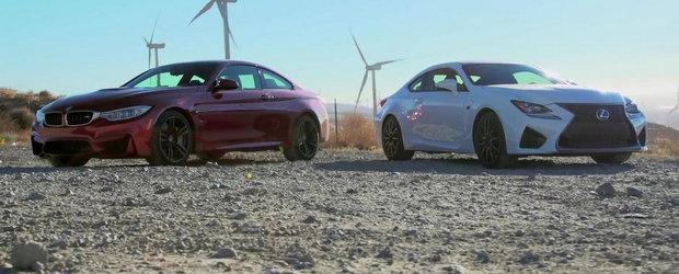 Noile BMW M4 si Lexus RC-F se intrec pe circuit, iar castigator iese...