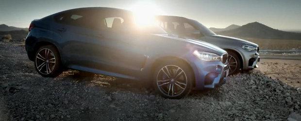 Noile BMW X5 si X6 M arata fioros in primul lor clip oficial