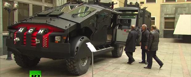 Noile vehicule de interventie din Rusia par a fi masinile lui Batman