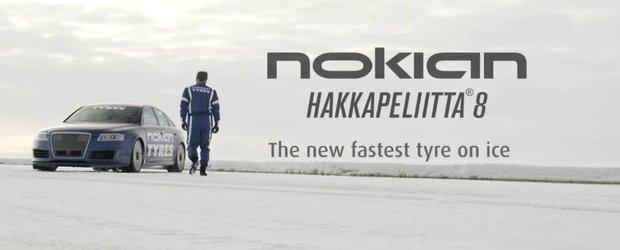 Nokian doboara recordul de viteza pe gheata: 335,7 km/h cu un Audi