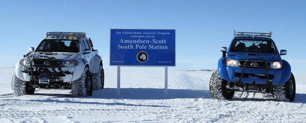 Nou record mondial in Antarctica: Toyota Hilux a parcurs 9.500 de kilometri
