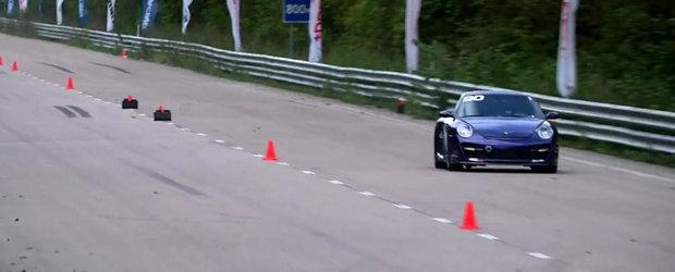 NOU record mondial: Priveste in actiune cel mai rapid Porsche pe o mila!
