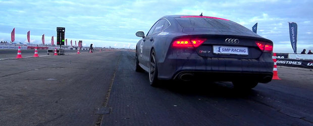 NOU RECORD MONDIAL: Un Audi RS7 parcurge sfertul de mila in 10.1 secunde