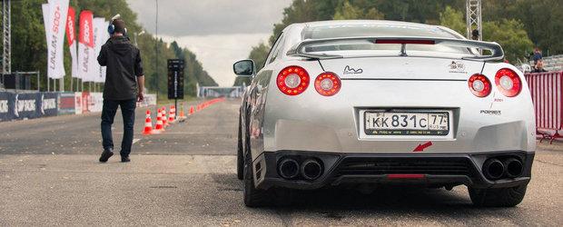 Nou record mondial: Un Nissan GT-R accelereaza pana la 402 km/h