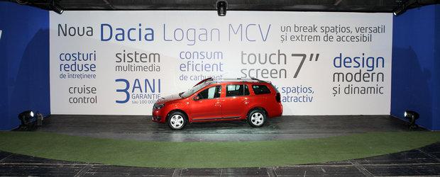Noua Dacia Logan MCV costa in Romania de la 7790 Euro
