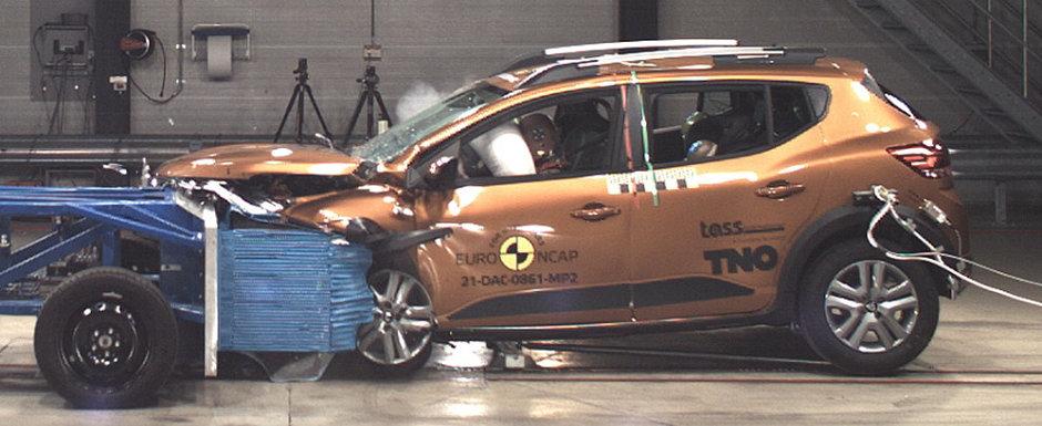 Noua Dacie Sandero s-a facut de ras. A luat doar doua stele la testele Euro NCAP