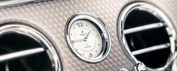 Noua decapotabila de la Bentley este luxul intruchipat. Numai ceasul din consola centrala costa cat...