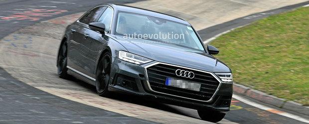 Noua limuzina cu peste 500 de cai de la Audi a fost scoasa in teste. Va fi vedeta Salonului Auto de la Paris