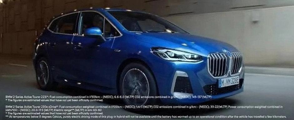 Noua masina cu tractiune fata de la BMW a ajuns mai devreme pe internet. Poza pe care bavarezii o vor stearsa de urgenta