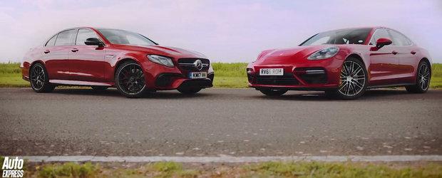 Noua masina de 612 CP de la Mercedes vrea sa bata pe pista cel mai tare Panamera pe benzina. VIDEO