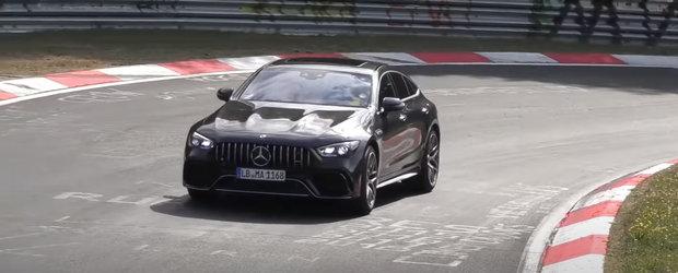 Noua masina de 800 CP de la Mercedes a fost surprinsa pe Nurburgring complet necamuflata. VIDEO