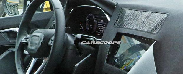Noua masina de la Audi a fost pozata cu interiorul la vedere. Nemtii au montat in bord un ecran tactil urias
