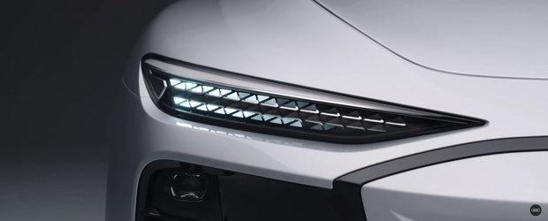 Noua masina de la Audi e la ani lumina in fata rivalilor: are faruri care proiecteaza jocuri video pe pereti! Cand se lanseaza pe piata