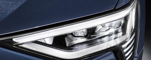 Noua masina de la Audi e la ani lumina in fata rivalilor: are faruri care proiecteaza animatii pe asfalt. FOTO ca sa te convingi si singur