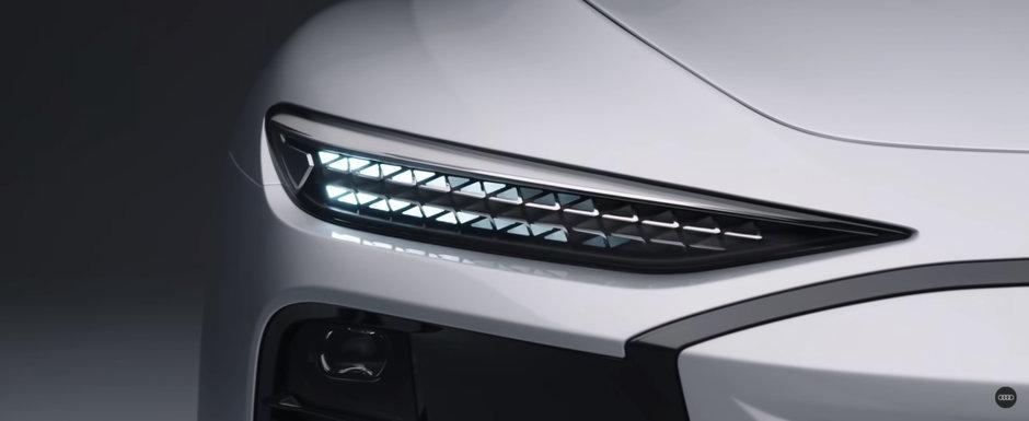 Noua masina de la Audi e la ani lumina in fata rivalilor: are faruri care proiecteaza jocuri video pe pereti!
