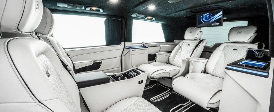 Noua masina de la Brabus e AVION. Are scaune business, monitoare in plafon si PlayStation 4