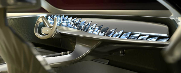 Noua masina de la Kia nu seamana cu nimic din ce ai vazut pana acum. Are nu mai putin de 21 de ecrane... doar in bord