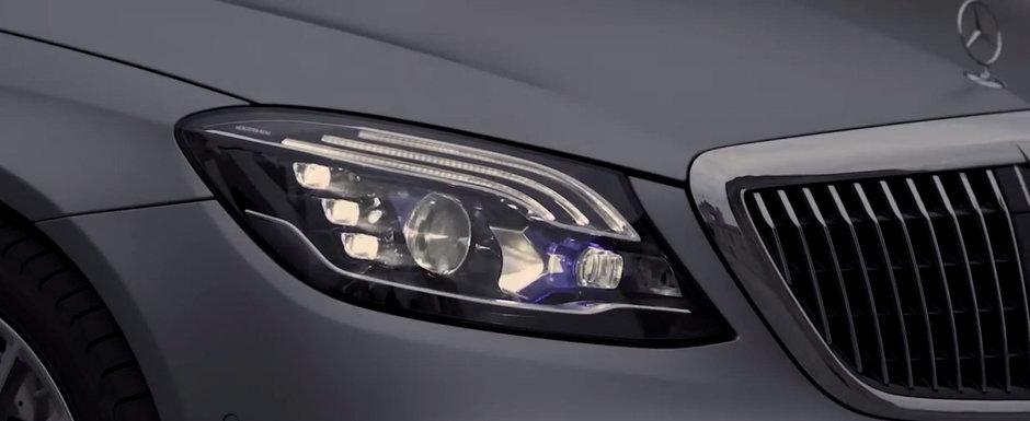 Noua masina de la Mercedes e la ani lumina in fata rivalilor. Are faruri care proiecteaza mesaje pe asfalt