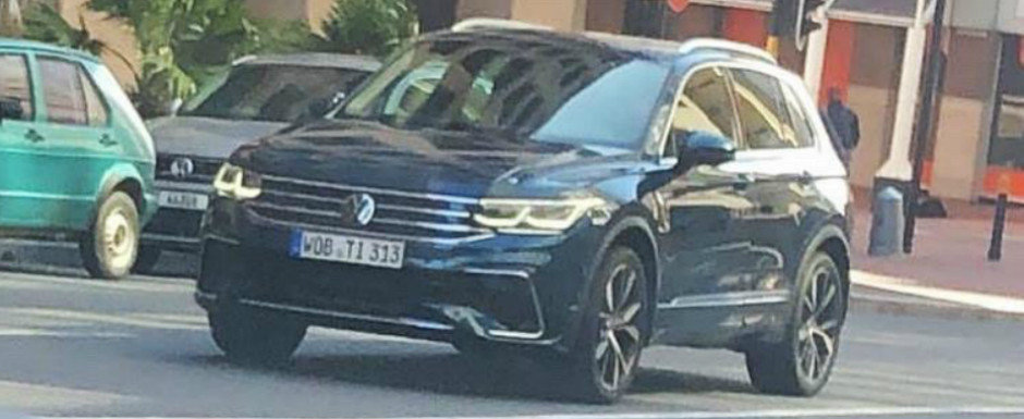 Noua masina de la Volkswagen a iesit pe strazi complet necamuflata. Din fata seamana cu Golf 8