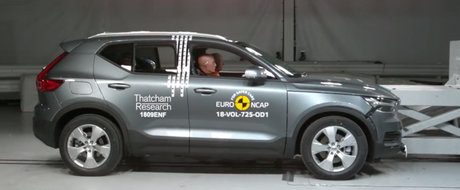 Noua masina de la Volvo le-a dat aparatele peste cap. A fost la un singur pas sa obtina 100% la aceasta proba