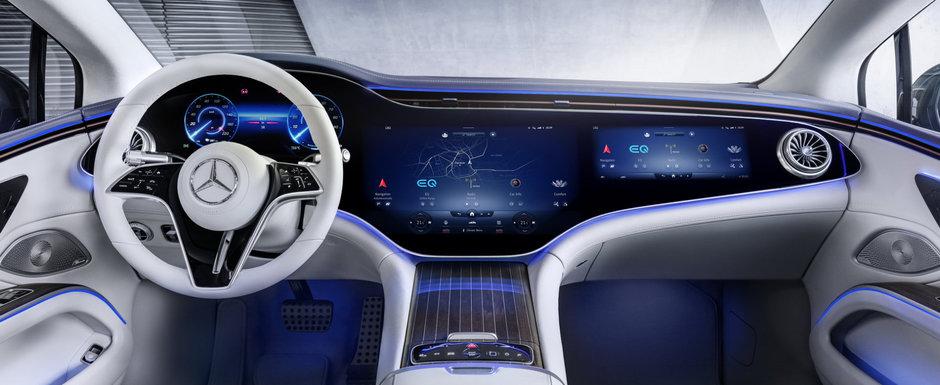 Noua masina de serie de la Mercedes e la ani lumina in fata rivalilor: are display curbat de 55 de inch! Galerie foto completa